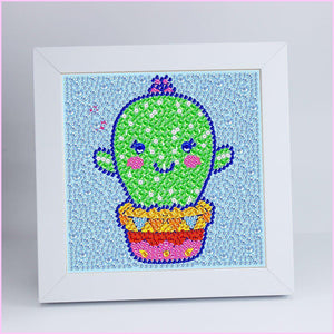 "Kids ""Pebbles"" Diamond Painting - Cute Cactus"