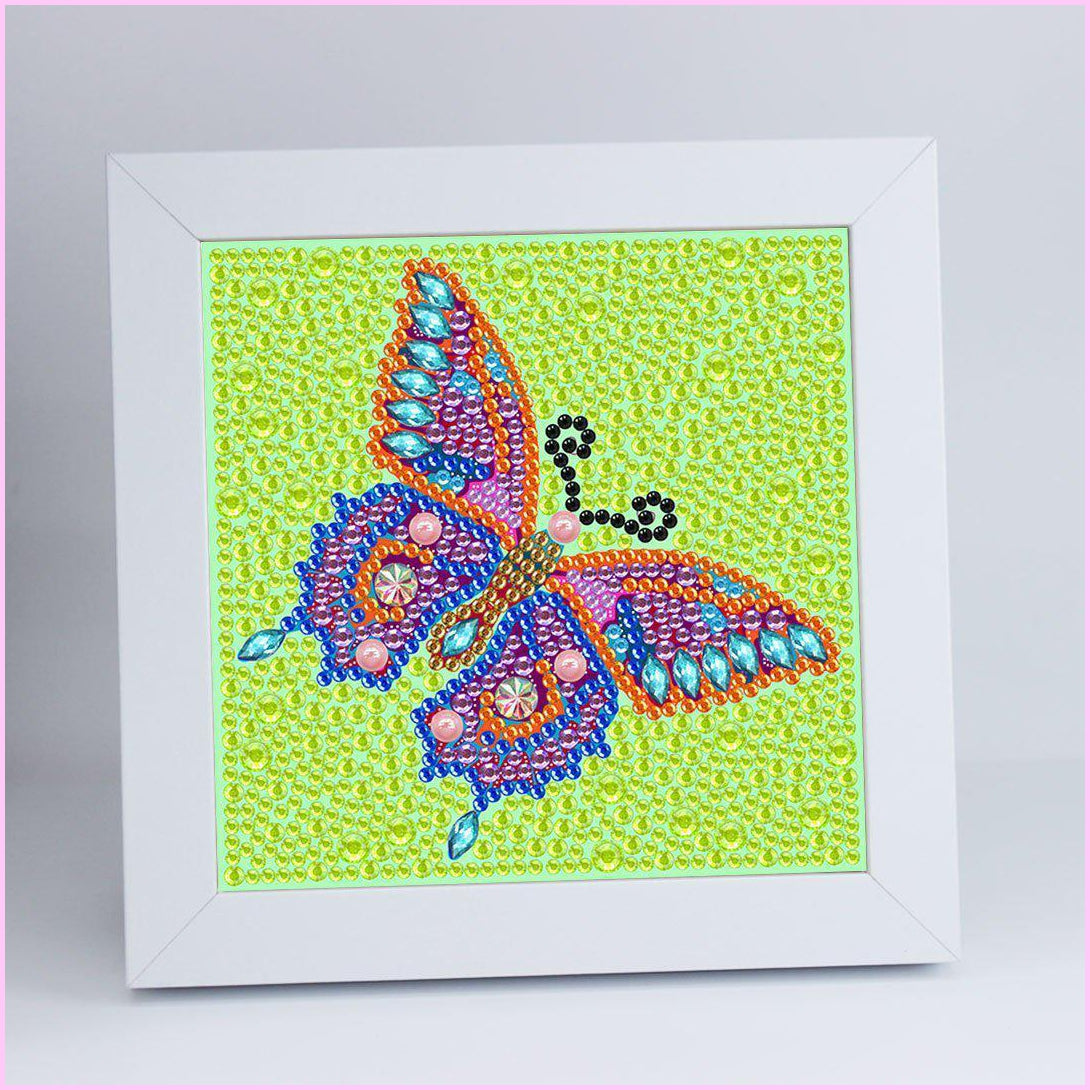 "Kids ""Pebbles"" Diamond Painting - Neon Butterfly"