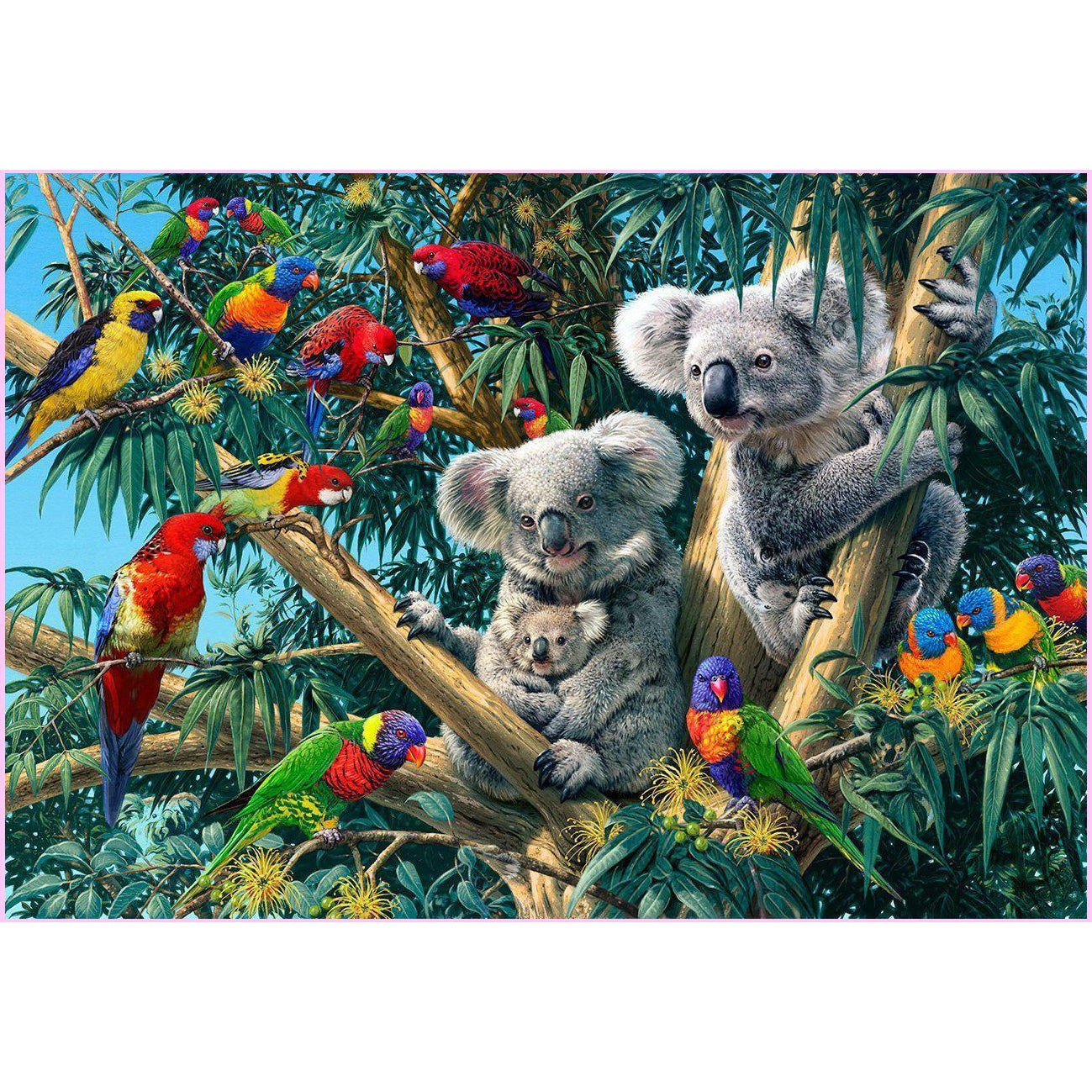 Koala Outback-Diamond Painting Kit USPS-25x40cm (10x16 in)-Square-Heartful Diamonds