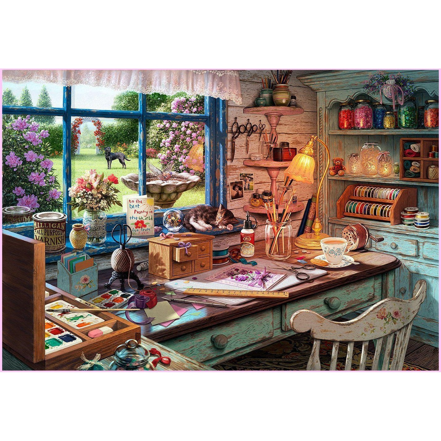 Grandma's Craft Shed-Diamond Painting Kit USPS-30x45cm (12x18 in)-Square-Heartful Diamonds