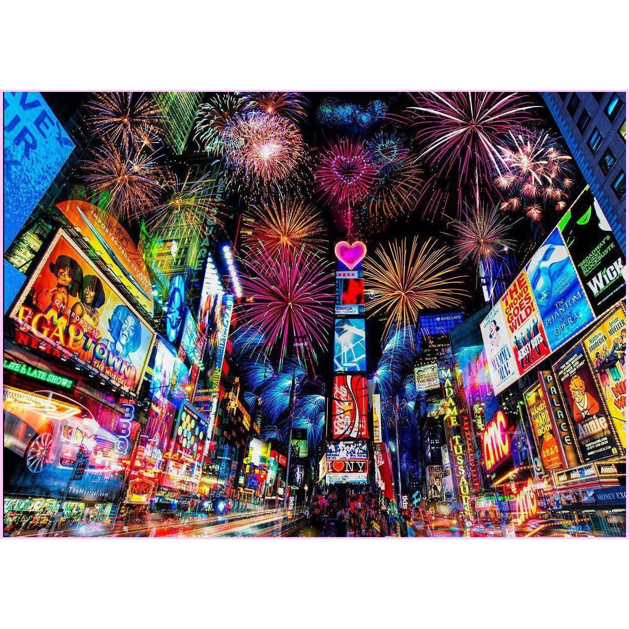 New York Neon-Diamond Painting Kit USPS-50x70cm (20x28 in)-Square-Heartful Diamonds