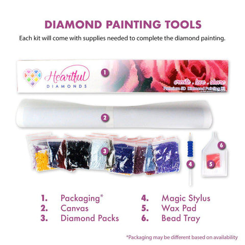 7 Colors Sunflower-Diamond Painting Kit USPS-Heartful Diamonds
