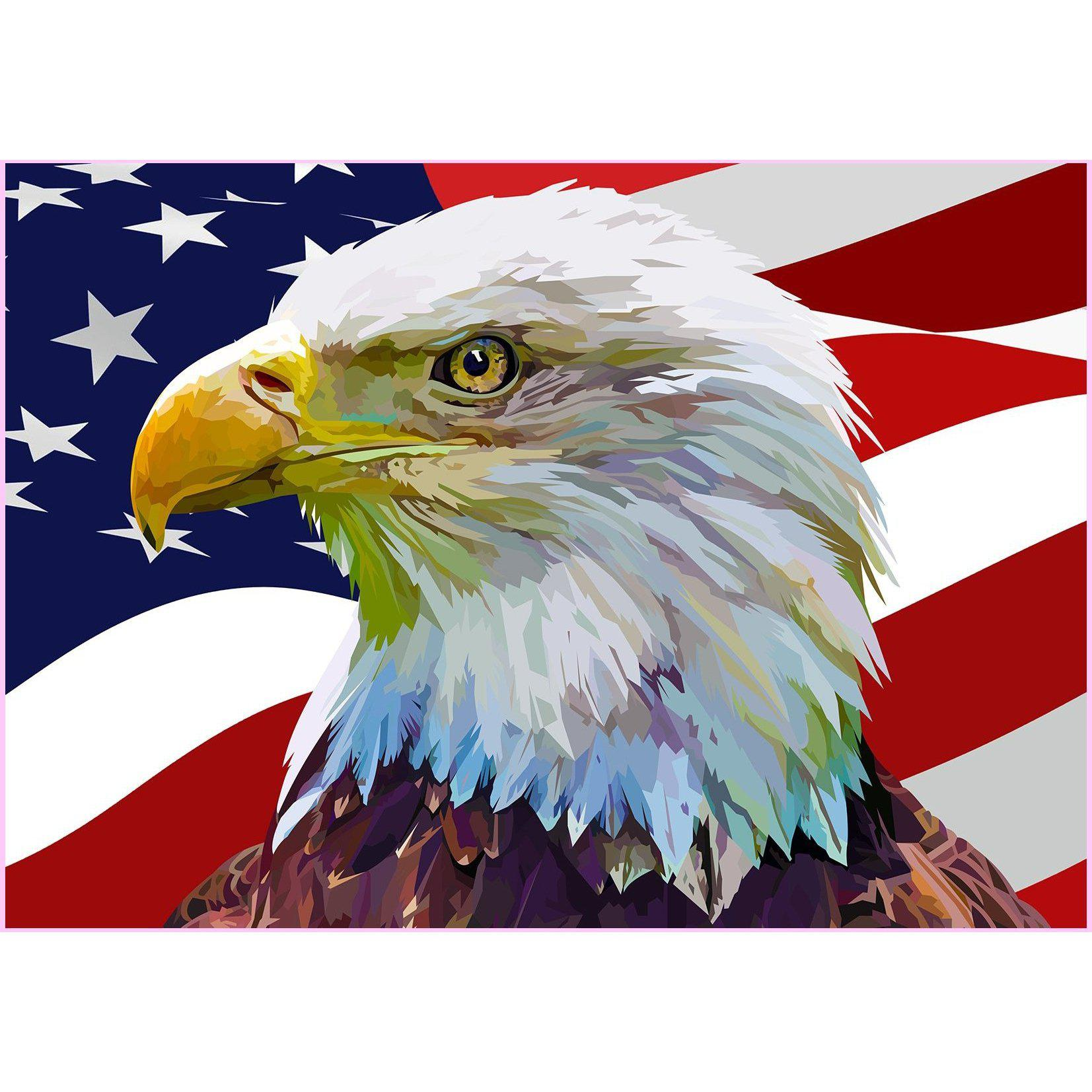 America the Greatest-Diamond Painting Kit USPS-32x45cm (13x18 in)-Round-Heartful Diamonds