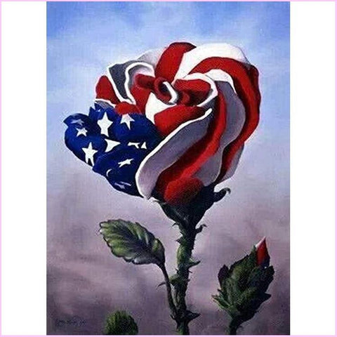 Image of American Rose-Diamond Painting Kit-30x40cm (12x16 in)-Square-Heartful Diamonds