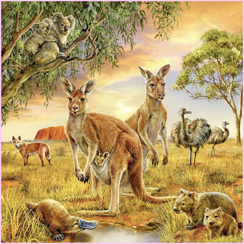 Aussie Outback-Diamond Painting Kit 30x30cm (12x12 in) -Square-Heartful Diamonds