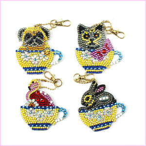 Cups of Surprise - Diamond Key Chains - HEARTFUL DIAMONDS