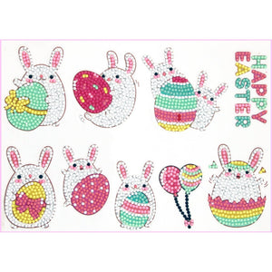 Easter Bunny-Diamond Art Anywhere Stickers-Heartful Diamonds