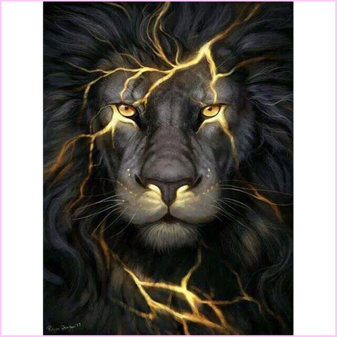 Lion King Fury-Diamond Painting Kit-30x40cm (12x16 in)-Square-Heartful Diamonds