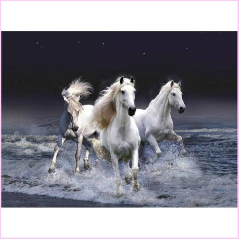 Image of Midnight Gallop-Diamond Painting Kit-30x40cm (12x16 in)-Square-Heartful Diamonds