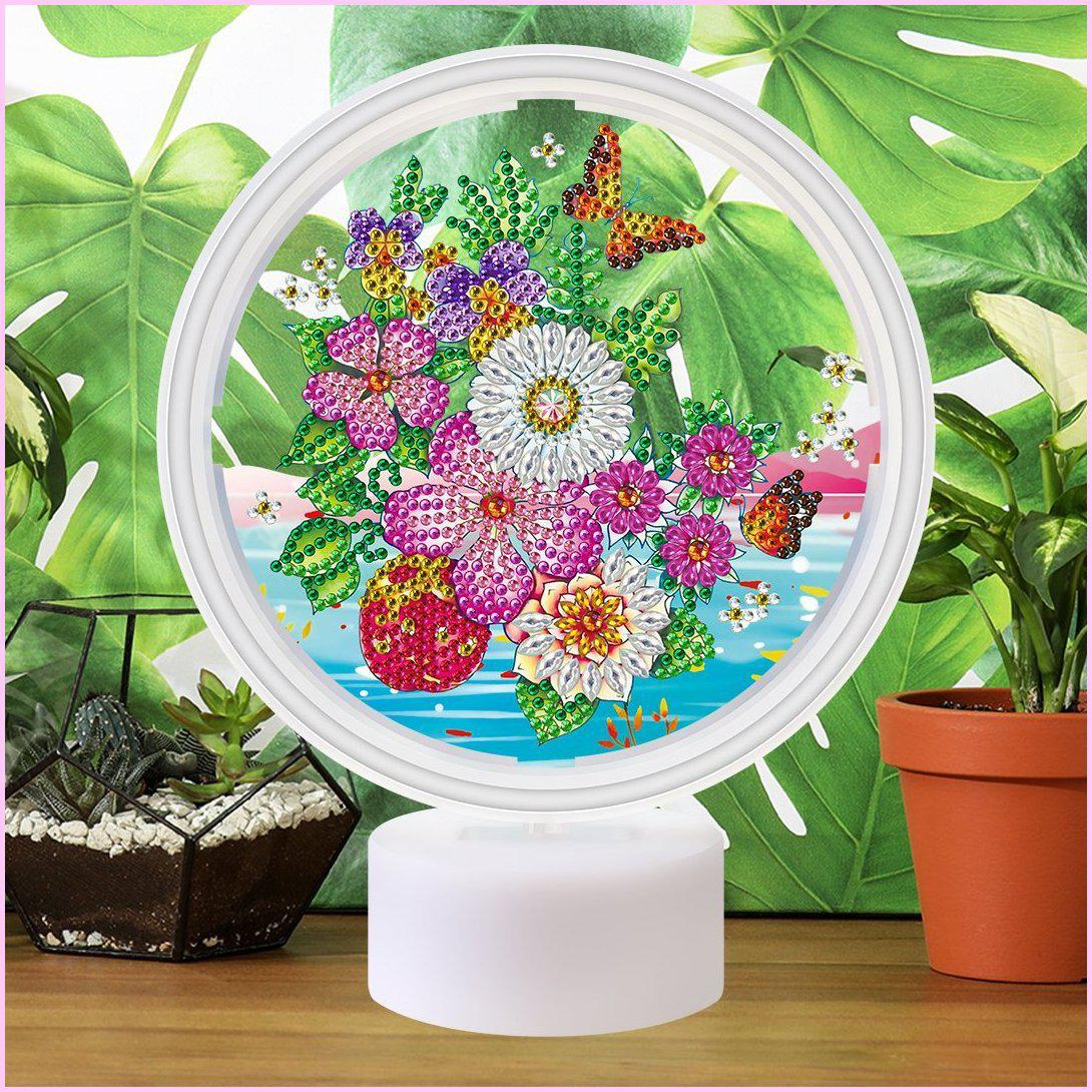 Eternal Blooms - 3D Night Light - Heartful Diamonds