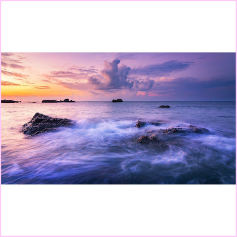 Image of Purple Waves Diamond Painting Kit-Square-Heartful Diamonds