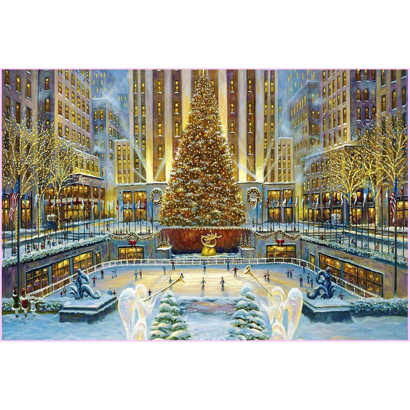 Christmas in the Big City-Diamond Painting Kit-30x40cm (12x16 in)-Square-Heartful Diamonds