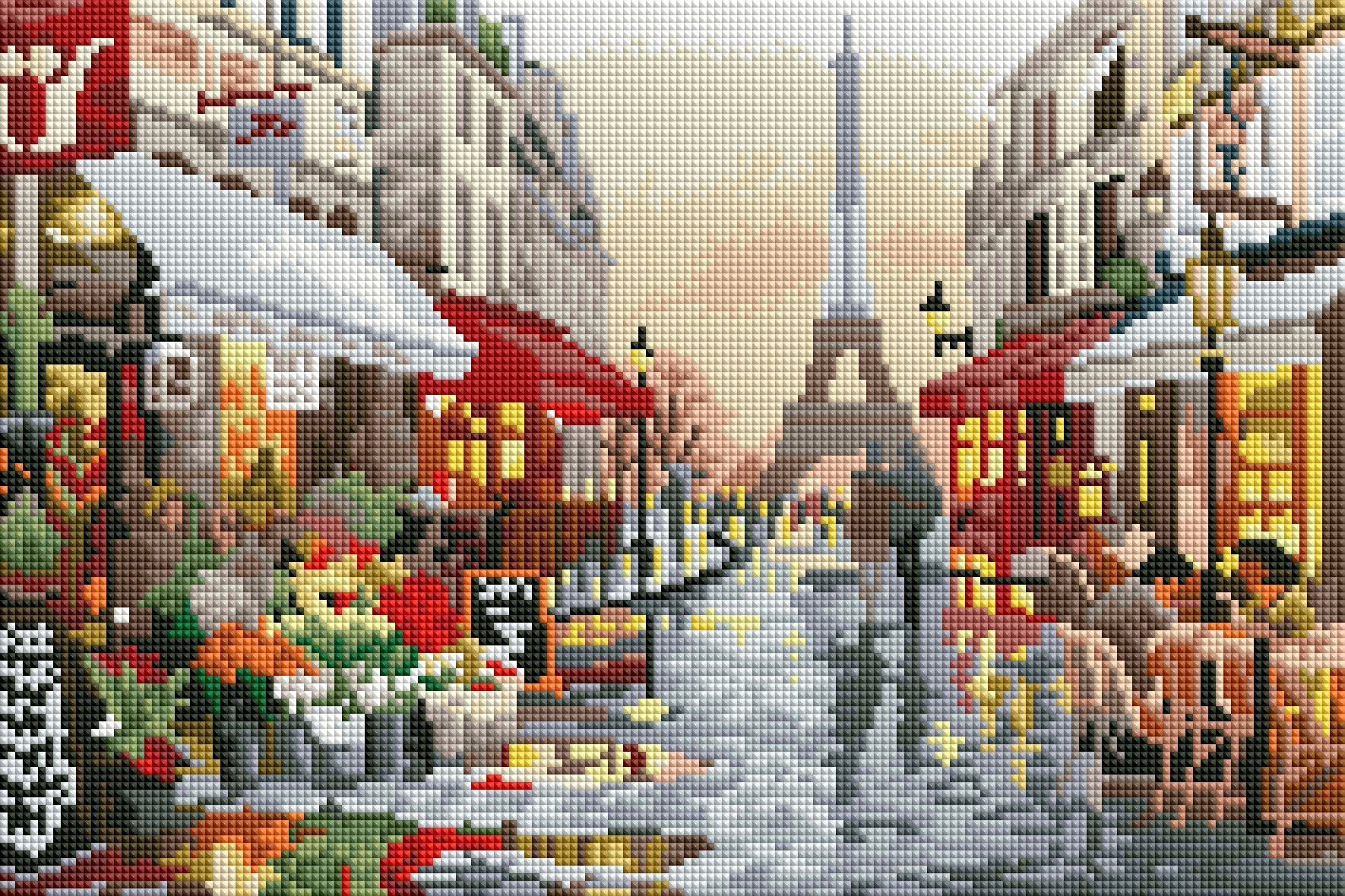 rainy day in paris diamond painting rendering preview by create love share