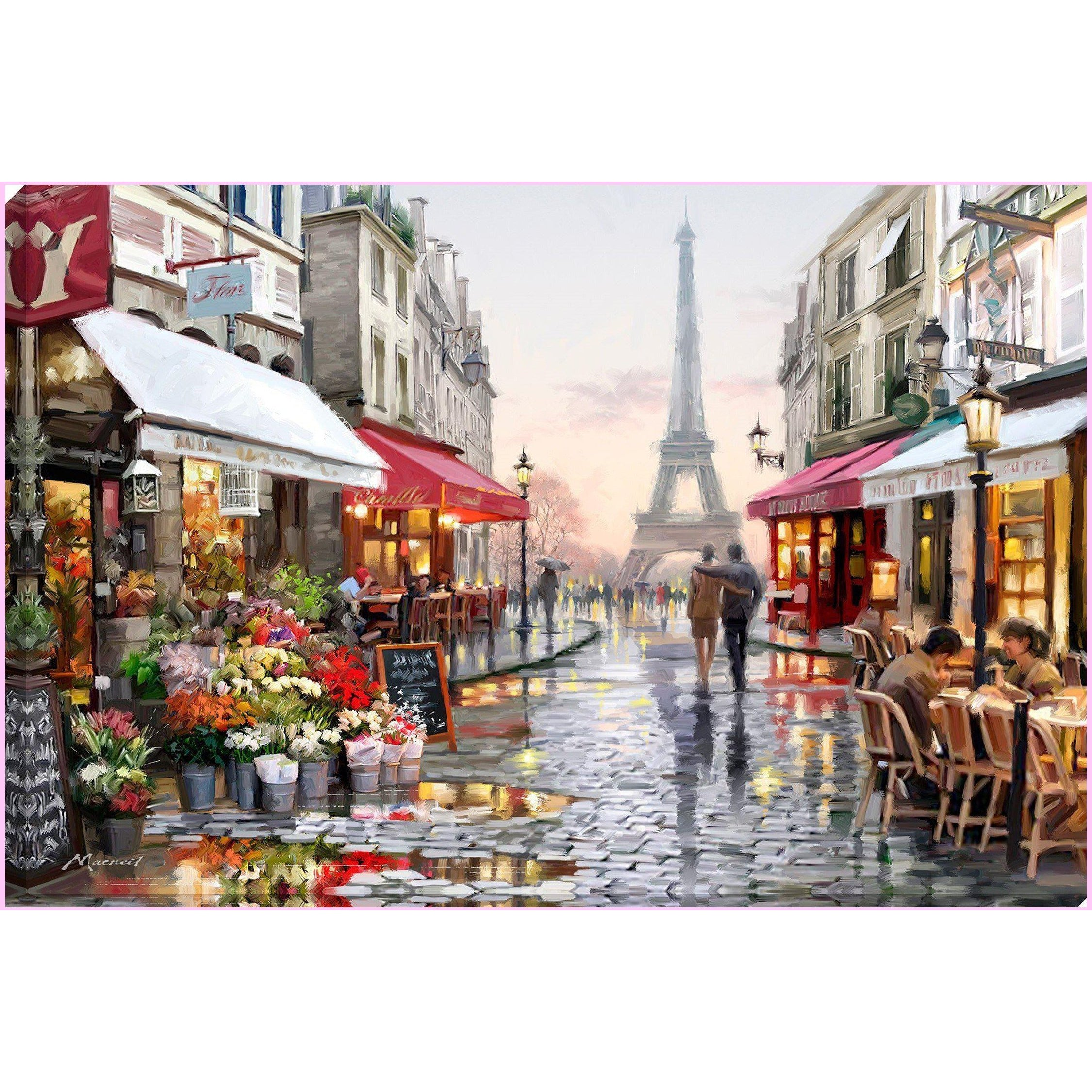 rainy day in paris full drill diamond painting by create love share