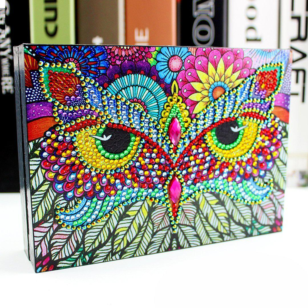 Rainbow Owl - Diamond Jewelry Box