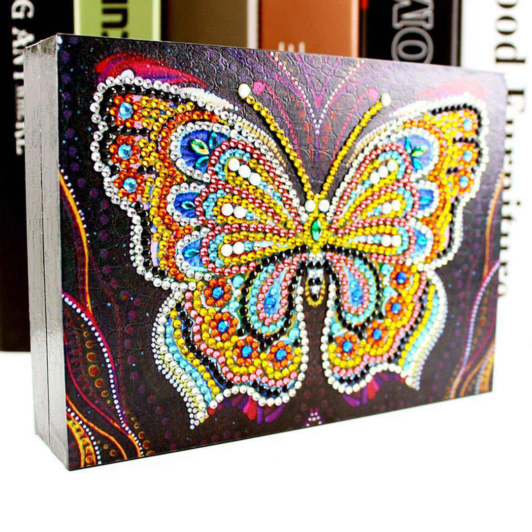 Glittery Butterfly - Diamond Jewelry Box