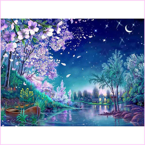 Image of Summer Nights-Diamond Painting Kit-30x40cm (12x16 in)-Square-Heartful Diamonds