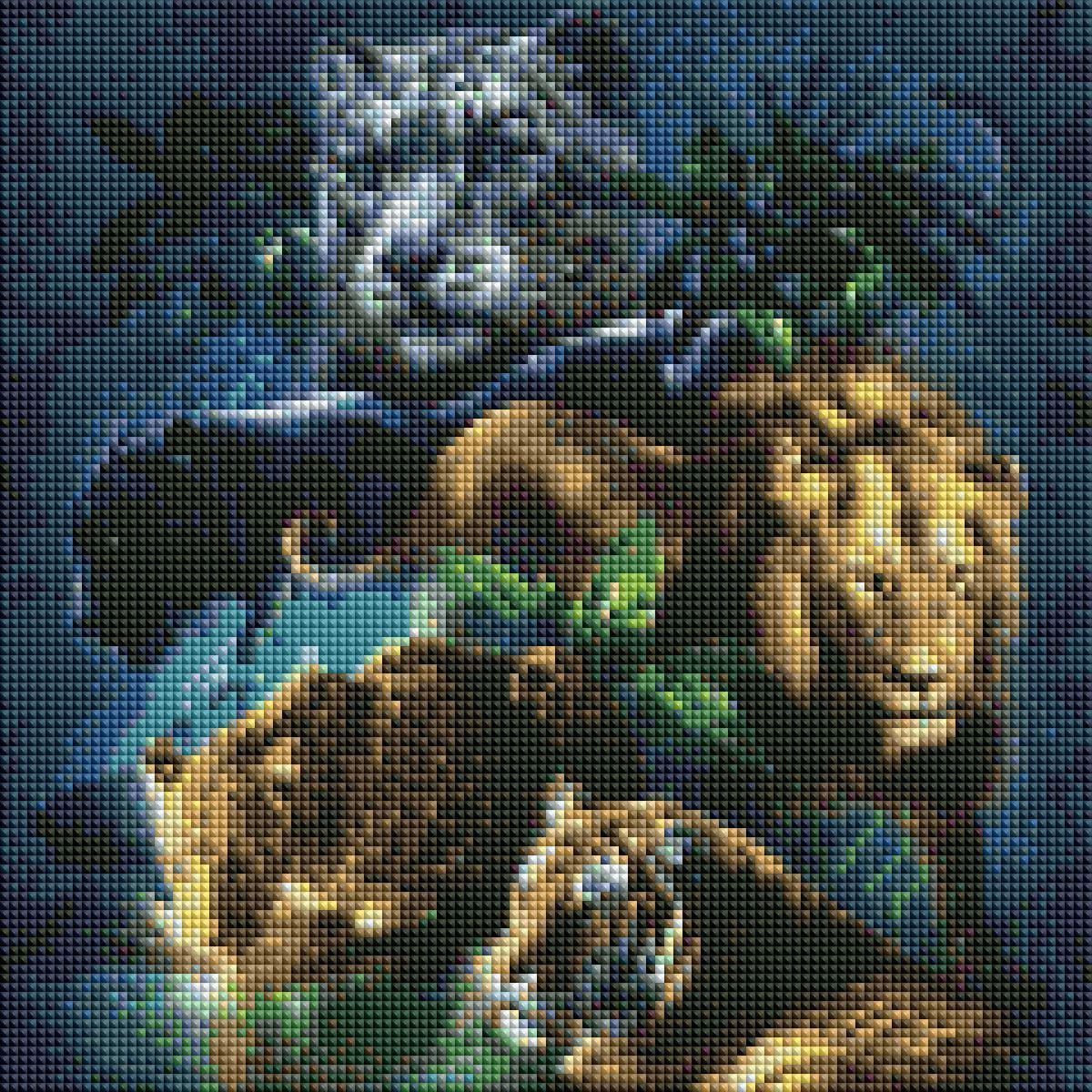 Diamond Painting Big Cats