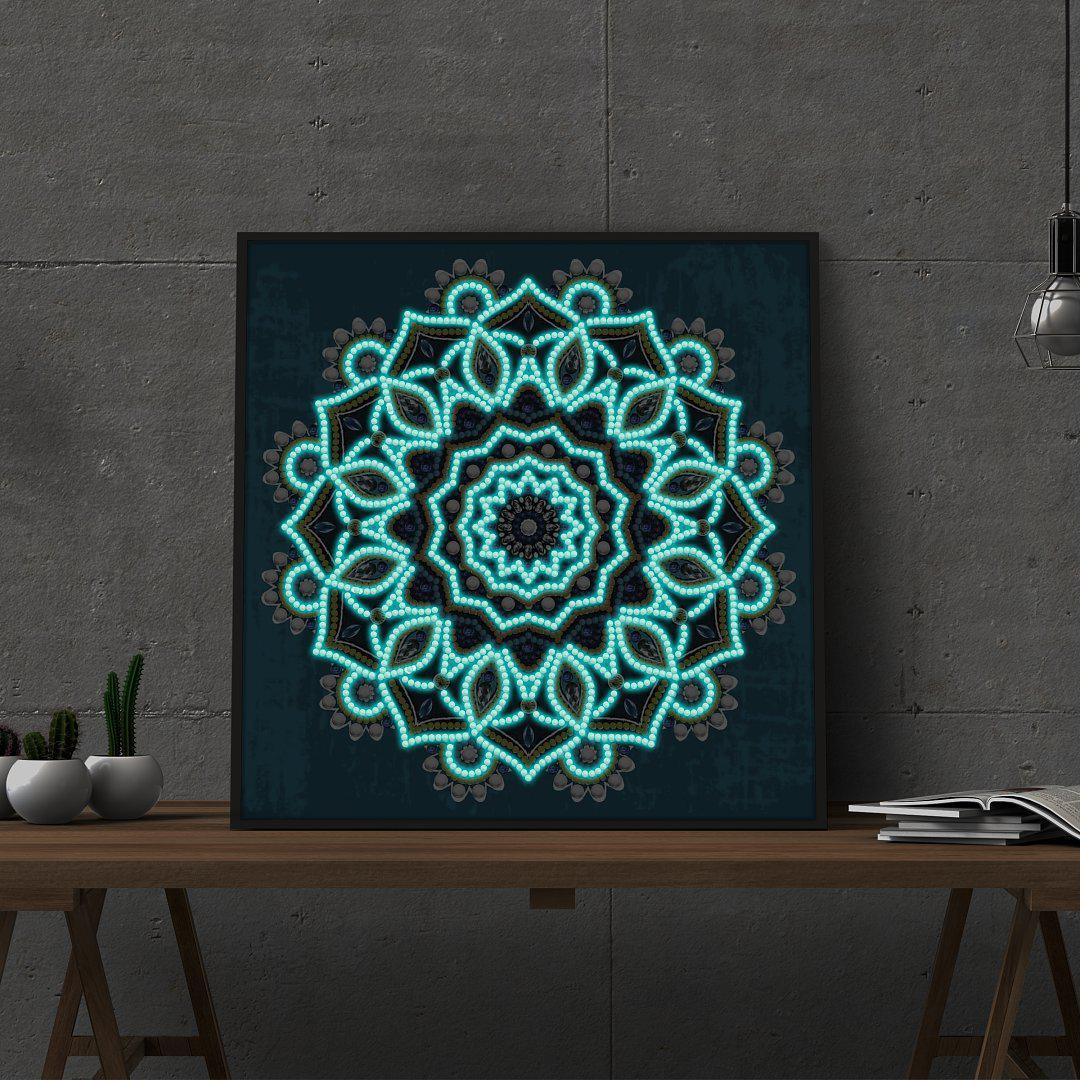 Ocean Mandala - Glow in the Dark - Heartful Diamonds