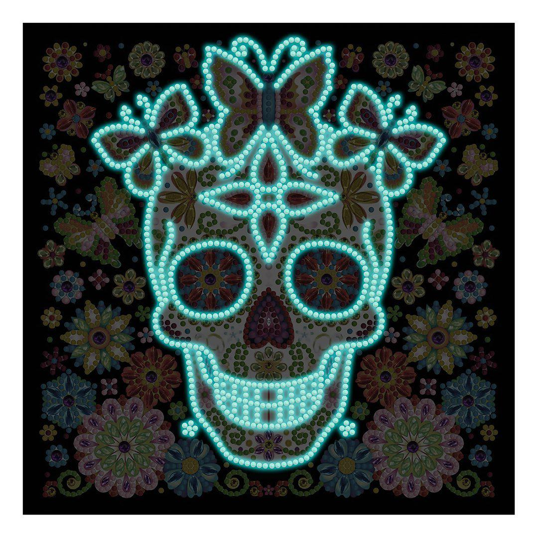 Candy Eye Sugar Skull - Glow in the Dark - Heartful Diamonds