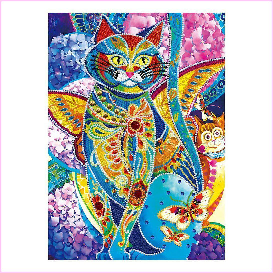 Abstract Cat - Glow in the Dark - Heartful Diamonds