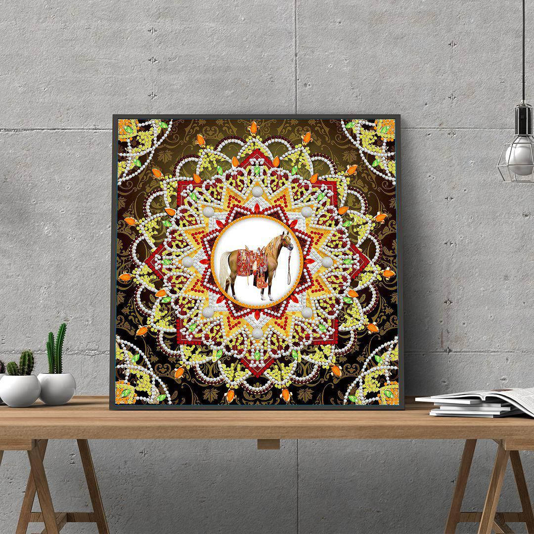 Egyptian Mandala Brown - Glow in the Dark - Heartful Diamonds