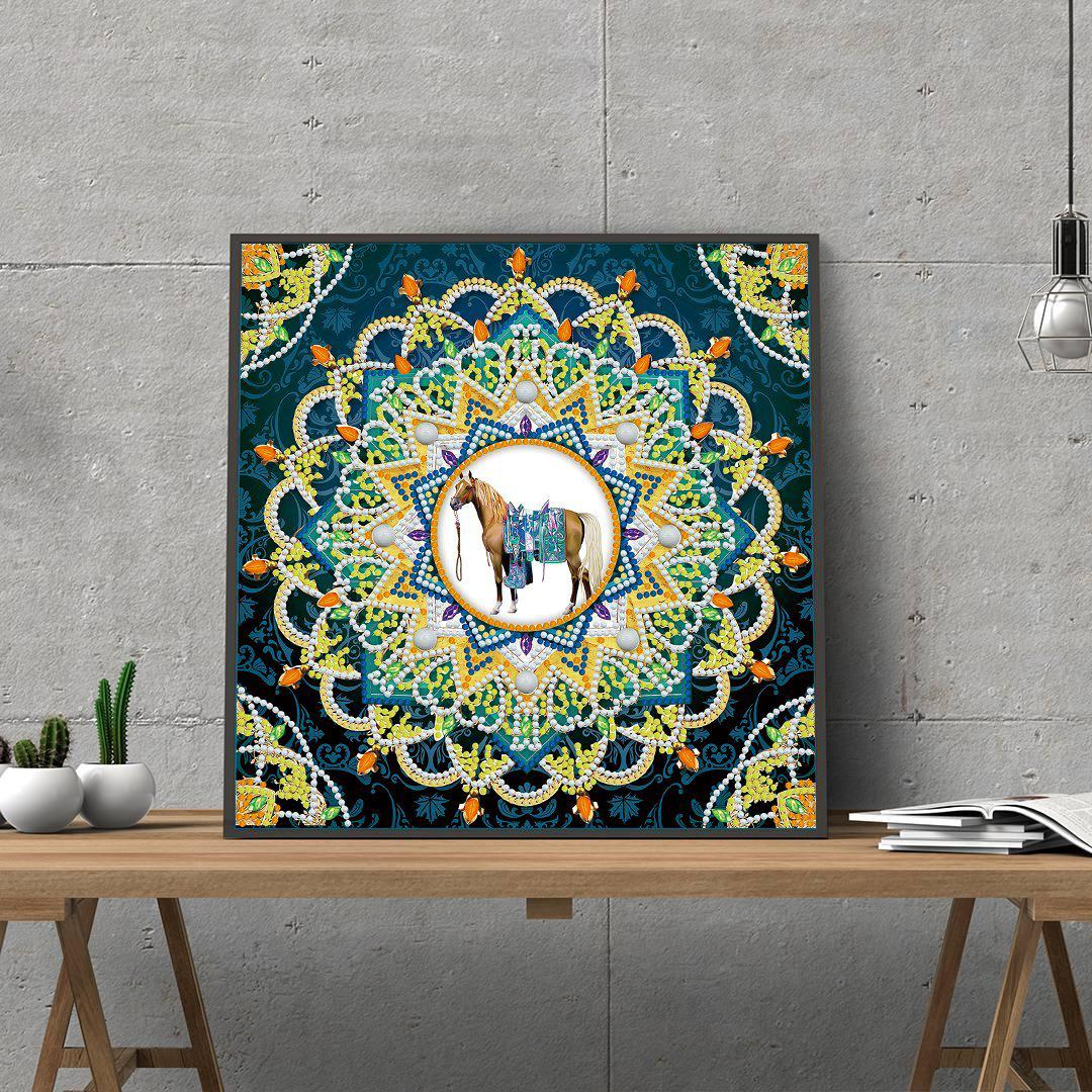 Egyptian Mandala Blue - Glow in the Dark - Heartful Diamonds