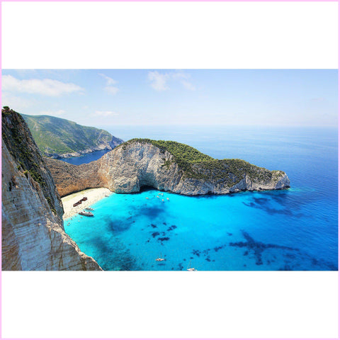 Image of Zakynthos Greece Diamond Painting Kit-Square-Heartful Diamonds