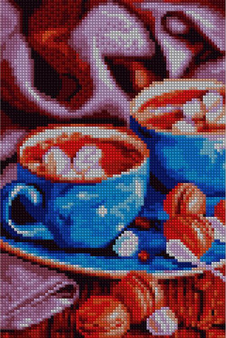 Image of A Cup of Hot Cocoa - Starter Edition-Starter Kit-Hot Cocoa-20x30cm (8x12 in)-Heartful Diamonds