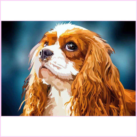 Adorable Cocker Spaniel-Diamond Painting Kit USPS-35x50cm (14x20 in)-Square-Heartful Diamonds