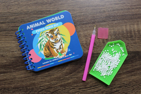 Image of Animal World - Kids' Paint by Diamonds Book-Kids Diamond Art Workbook-Heartful Diamonds