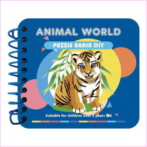 Animal World - Kids' Paint by Diamonds Book-Kids Diamond Art Workbook-Heartful Diamonds