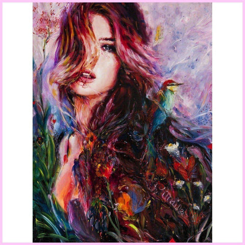 Image of Beauty of Fall-Diamond Painting Kit-30x40cm (12x16 in)-Square-Heartful Diamonds