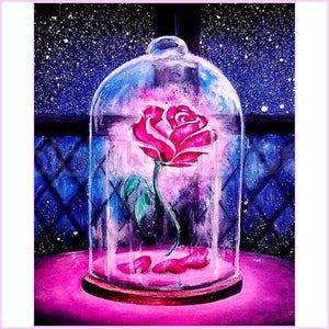 Beauty's Rose-Diamond Painting Kit-30x40cm (12x16 in)-Square-Heartful Diamonds