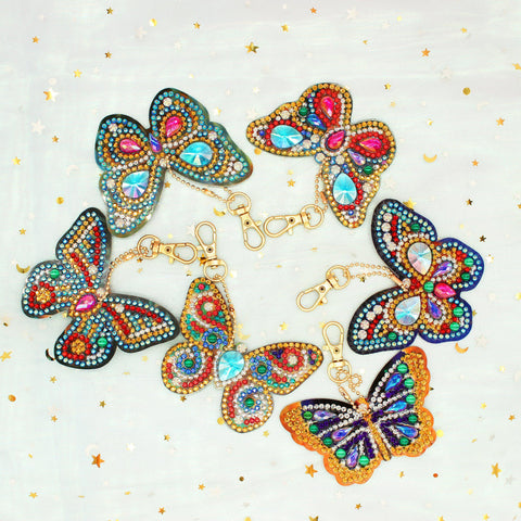 Bejeweled Butterflies 2 - Diamond Key Chains-Key chain-Heartful Diamonds