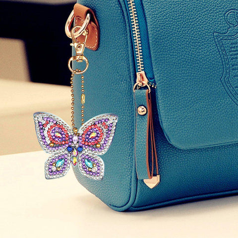 Image of Bejeweled Butterflies 3 - Diamond Key Chains-Key chain-Heartful Diamonds