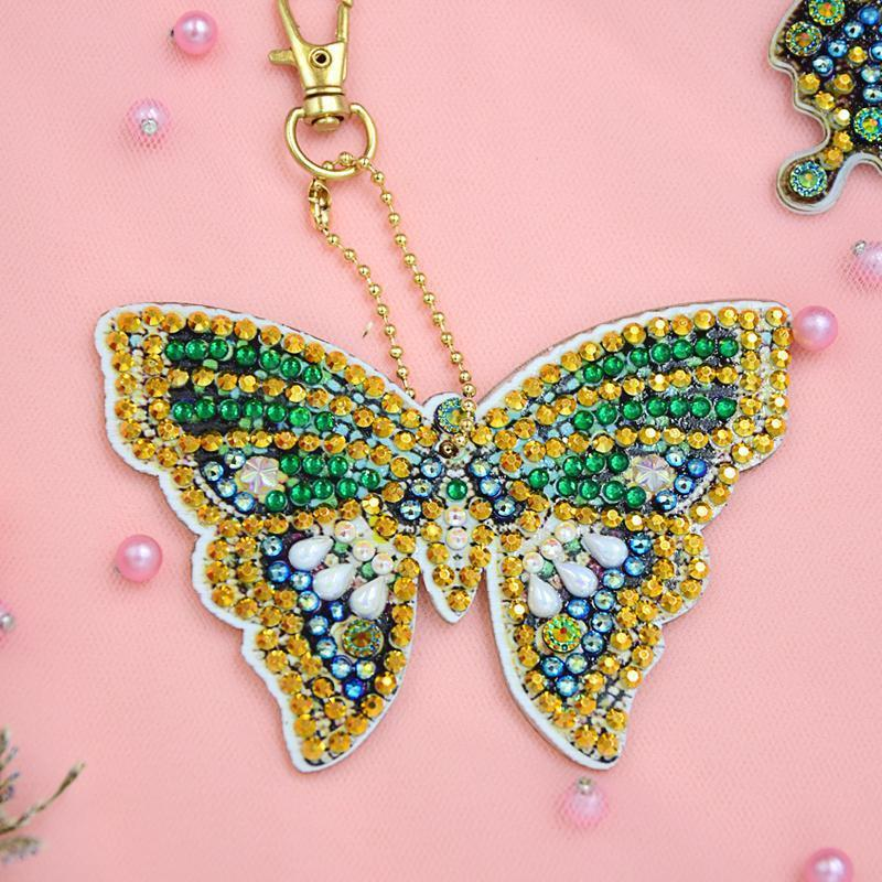 Bejeweled Butterflies - Diamond Key Chains-Key chain-Heartful Diamonds