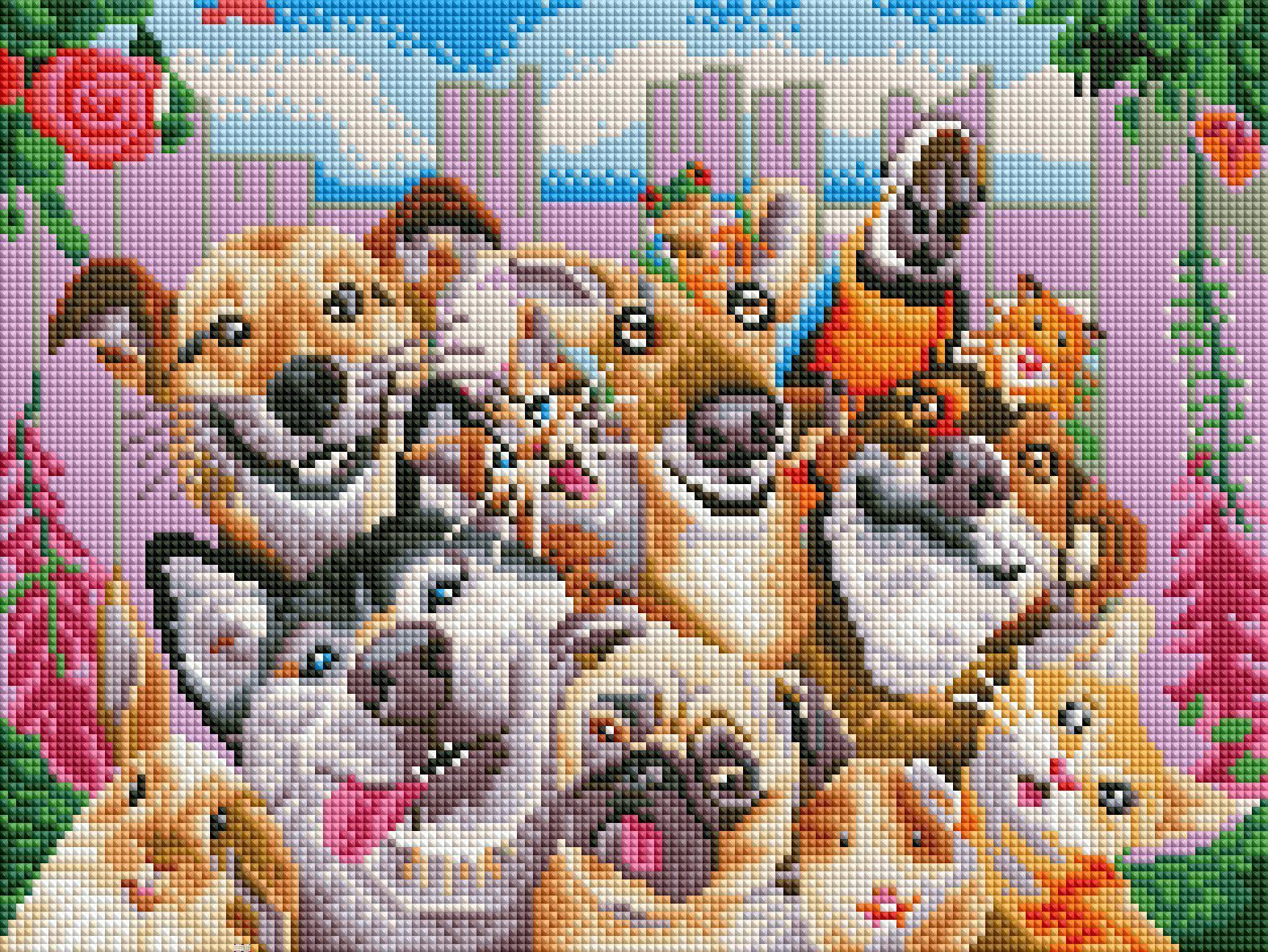 best of friends diamond painting rendering preview by create love share