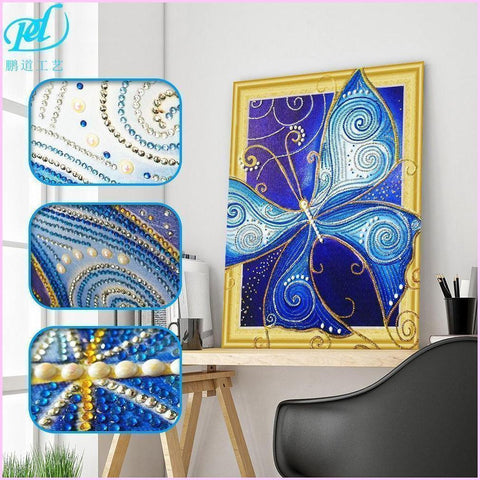 Image of Butterfly Collection Diamond Painting Kit with Jewel-Encrusted Design-Special Diamond Painting Kit-40x50cm (16x20 in)-Heartful Diamonds
