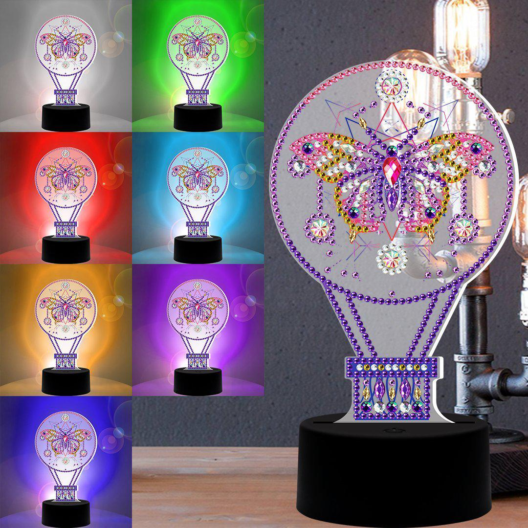 Butterfly Hot Air Balloon 3D Night Lamp-3D Night Lamp-Heartful Diamonds