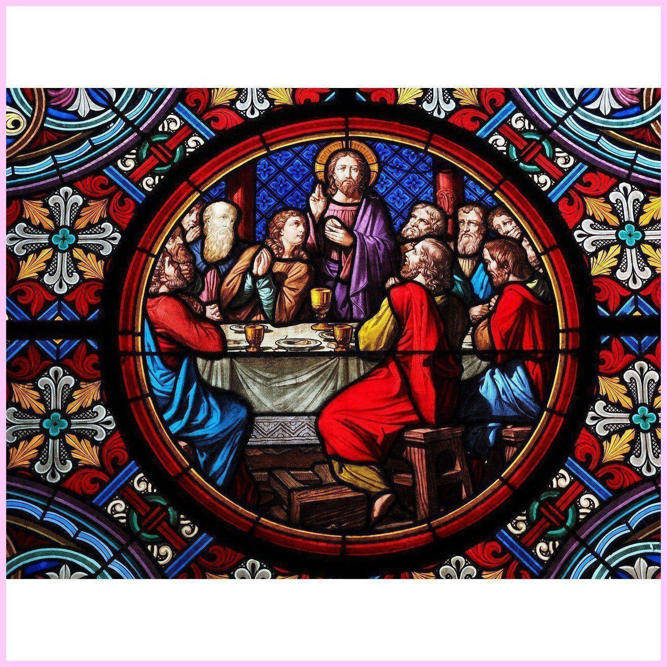 Cathedral Last Supper-Diamond Painting Kit-30x40cm (12x16 in)-Square-Heartful Diamonds
