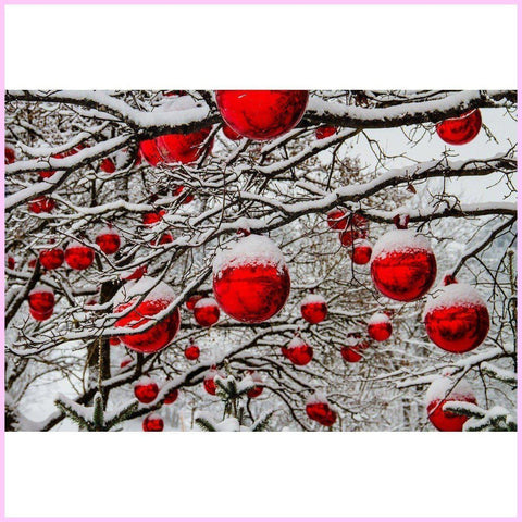 Image of Christmas Balls-Diamond Painting Kit-25x40cm (10x16 in)-Square-Heartful Diamonds
