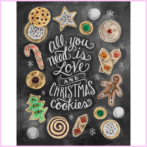 Image of Christmas Cookies-Diamond Painting Kit-30x40cm (12x16 in)-Square-Heartful Diamonds