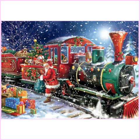 Christmas Express - Diamond Painting Kit USPS-30x40cm (12x16 in)-Square-Heartful Diamonds