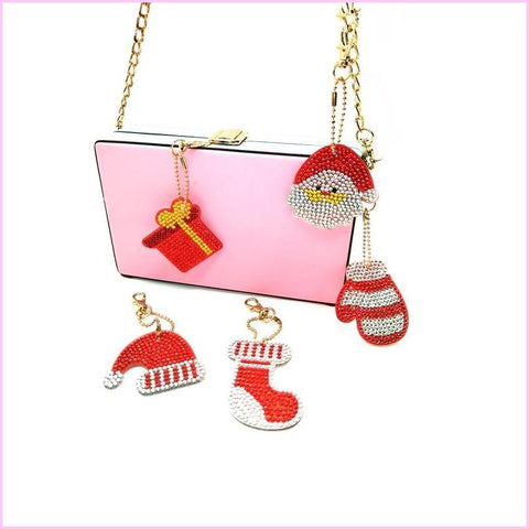 Image of Christmas Miniatures 1 - Diamond Key Chains-Key chain-Heartful Diamonds