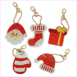 Christmas Miniatures 1 - Diamond Key Chains-Key chain-Heartful Diamonds