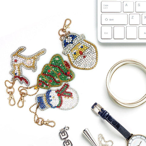 Image of Christmas Miniatures 4 - Diamond Key Chains-Key chain-Heartful Diamonds