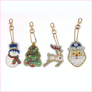 Christmas Miniatures 4 - Diamond Key Chains-Key chain-Heartful Diamonds
