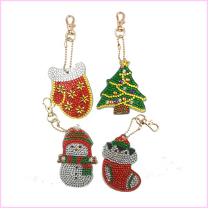 Christmas Ornaments B - Diamond Key Chains-Key chain-Heartful Diamonds