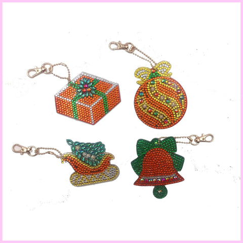 Christmas Ornaments - Diamond Key Chains-Key chain-Heartful Diamonds